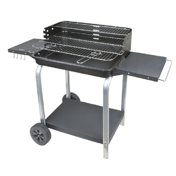 BARBACOA CARBON C/RUEDAS SUPERGRILL 60 60CM HABITEX