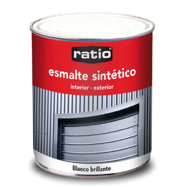 ESMALTE SINTETICO BLANCO BRILLANTE 750ML RATIO