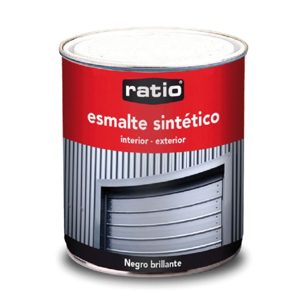 ESMALTE SINTETICO NEGRO BRILLANTE 750ML RATIO