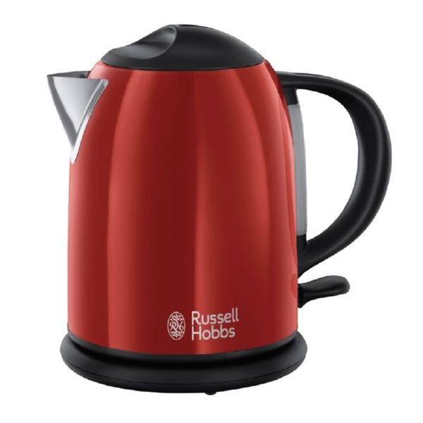 HERVIDOR AGUA COMPACT FLAME RED 1LTR 2200W RUSSELL HOBBS
