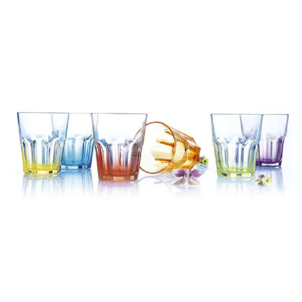 JGO.6 VASOS CRAZY COLORS LUMINARC