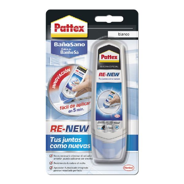 SILICONA BLANCA BAÑO SANO RE-NEW 100ML PATTEX RENEW